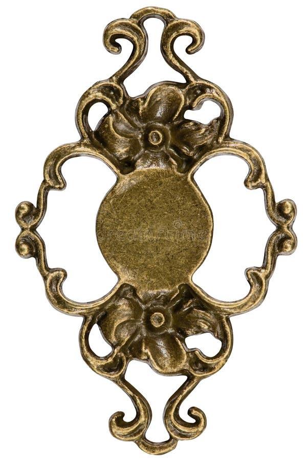Filigraan, decoratief element voor het handdiewerk, op wit wordt geïsoleerd, royalty-vrije stock afbeelding