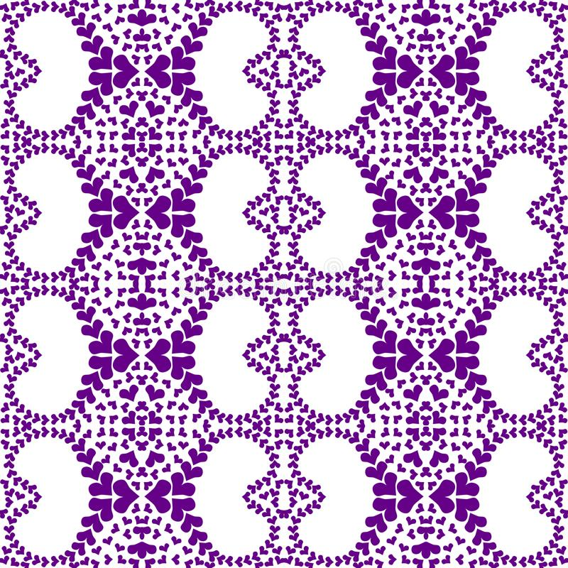 Filigraanharten Naadloos Geometrisch Patroon royalty-vrije illustratie