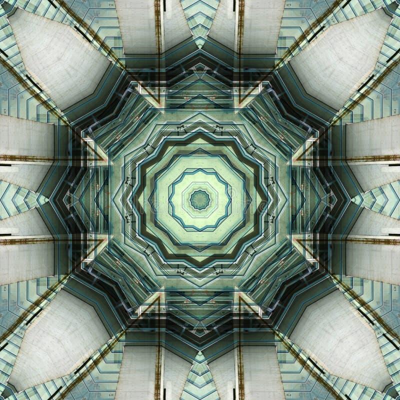 Filigraanpatroon van waterglas en staal vector illustratie