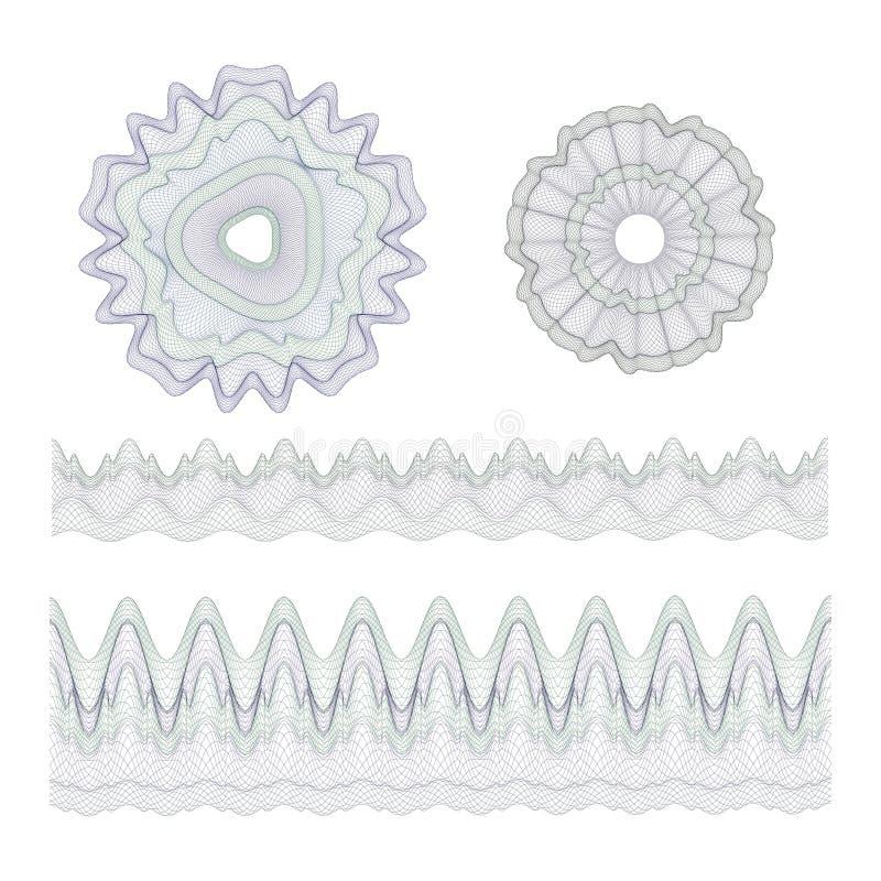 Filigrana per il fondo di progettazione, illustrazione vettoriale