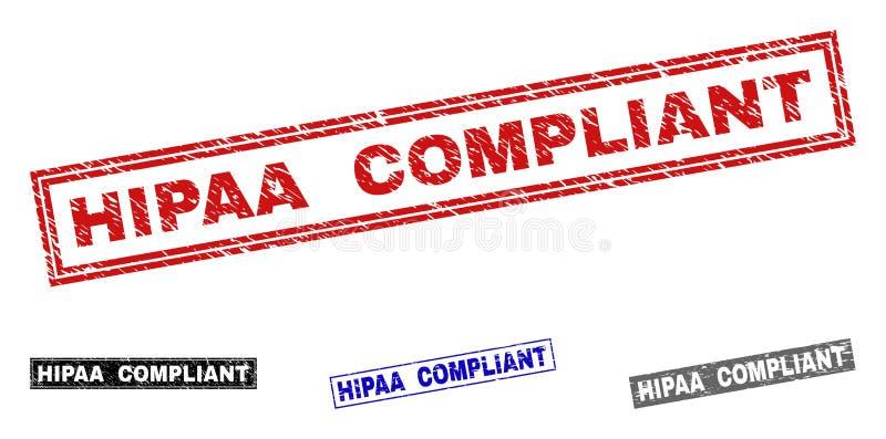 Filigranas Textured COMPLACENTES do retângulo do Grunge HIPAA ilustração royalty free