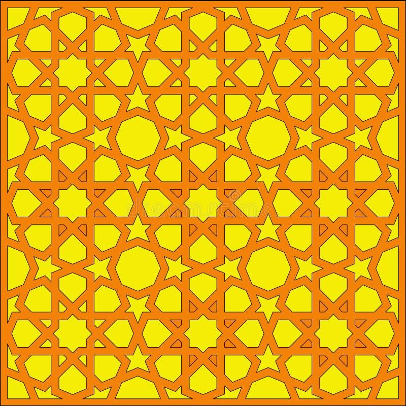Filigrane géométrique arabe de texture images stock