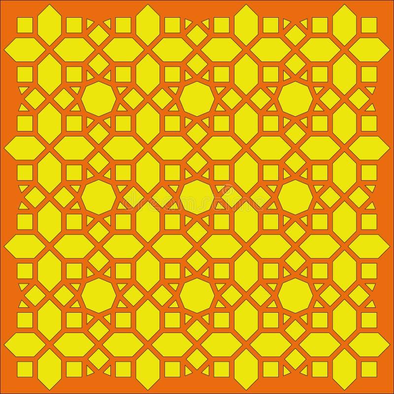 Filigrane géométrique arabe de texture images libres de droits