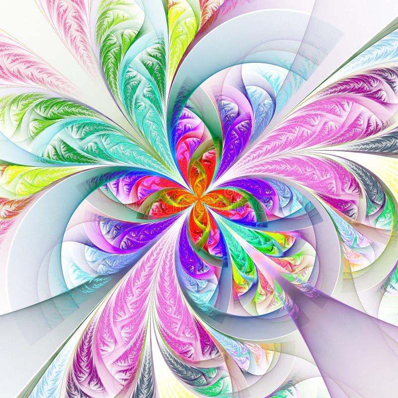 Filigrane multicolore symétrique diagonal de fractale Collection - franc illustration libre de droits