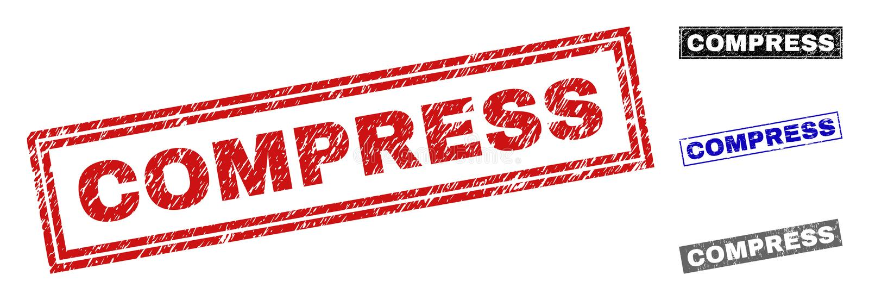 Filigranes de rectangle rayés par COMPRESSE grunge illustration stock
