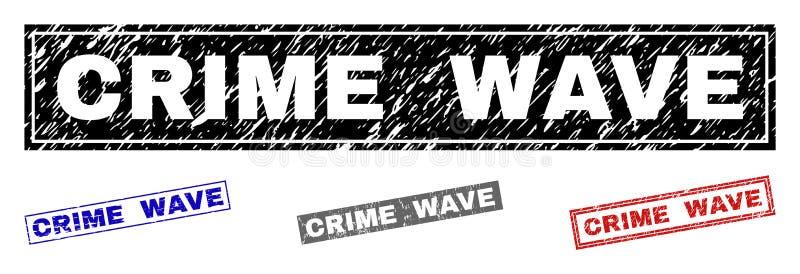 Filigranes de rectangle rayés par VAGUE DE CRIMINALITÉ grunge illustration de vecteur