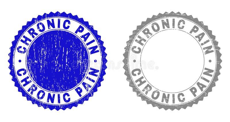 Filigranes texturisés de DOULEUR CHRONIQUE grunge illustration libre de droits