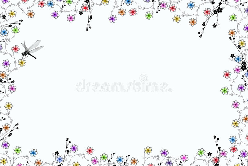 filigranowy ważka royalty ilustracja