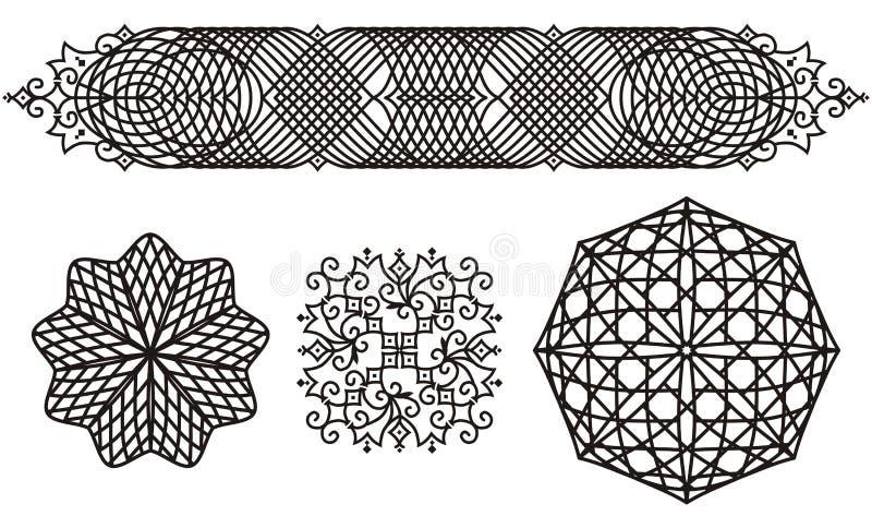 filigree διακοσμήσεις διανυσματική απεικόνιση
