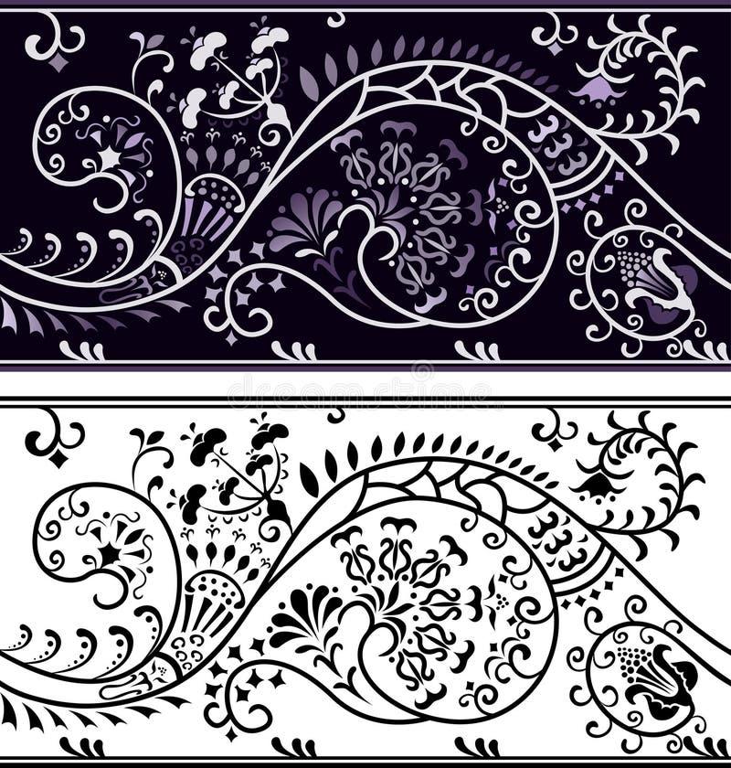filigree λουλούδι συνόρων ελεύθερη απεικόνιση δικαιώματος