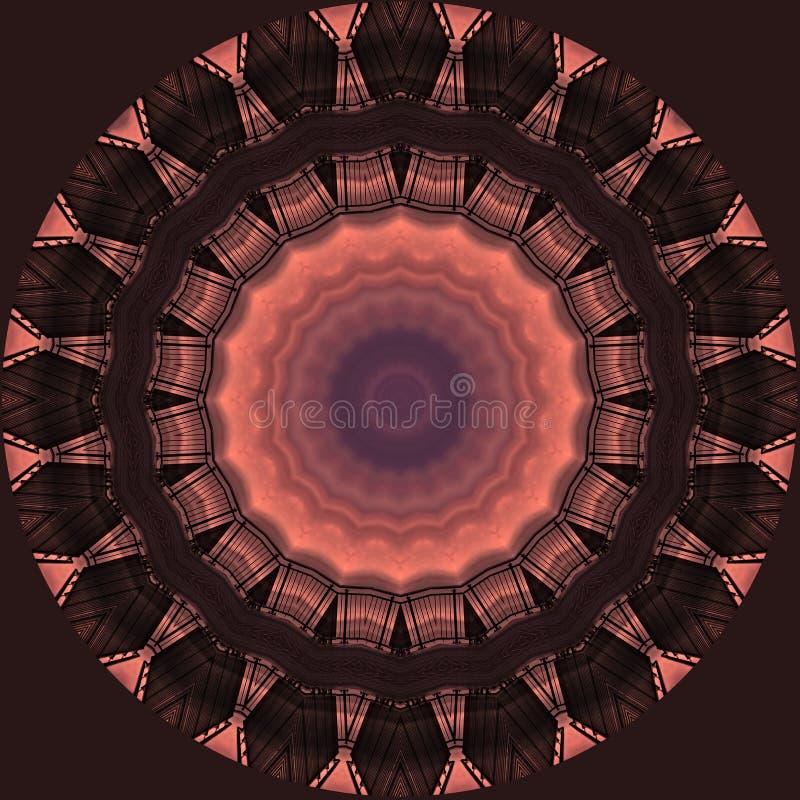 Filigree σχέδιο αστεριών φιαγμένο από γέφυρα και ουρανό στο ηλιοβασίλεμα διανυσματική απεικόνιση