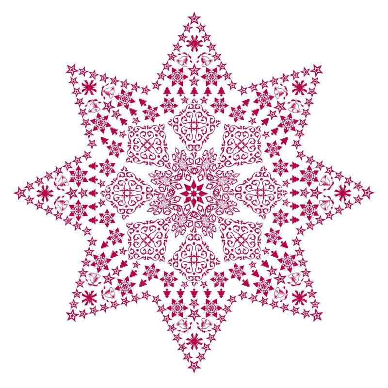 filigree czerwonej gwiazdy royalty ilustracja