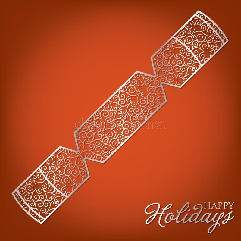 Filigree Decoration Card. Elegant filigree Christmas card in vector format royalty free illustration