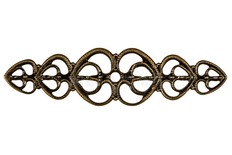 Filigree, decorative element for manual work, isolated on white. Background royalty free stock images