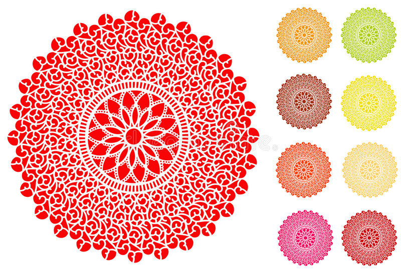 Filigree Lace Doilies vector illustration