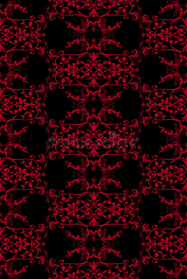 filigree red seamless бесплатная иллюстрация