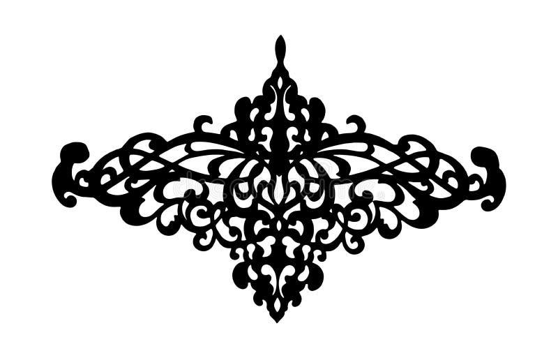 Filigree swirly ornaments. Victorian ornamental swirls and simple lines scrolls. Ornamental caligraphy embellishment stock illustration