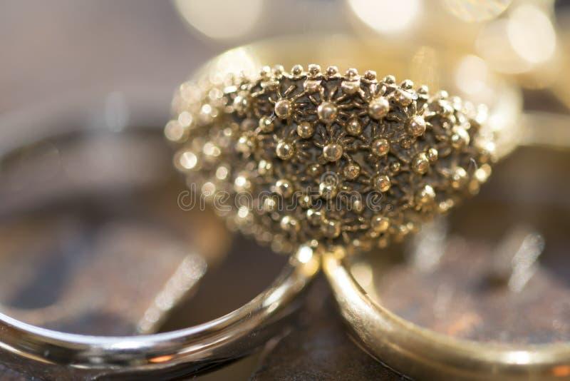Filigree wedding ring. The fede sarda a wedding ring in filigree made in sardinia royalty free stock image