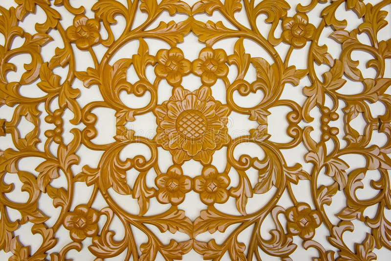 Filigree wood carvings. On isolated background royalty free stock photography