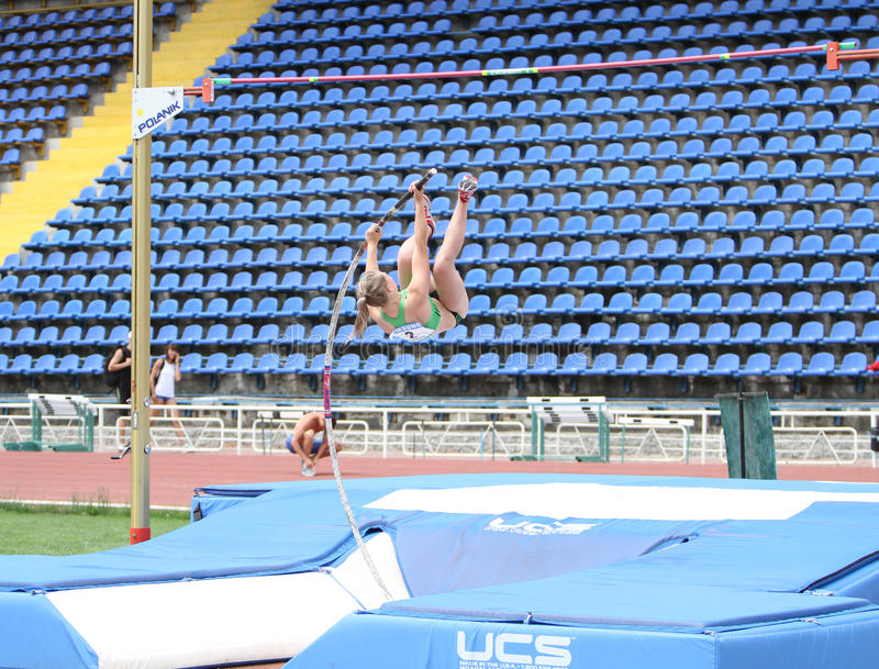 Download Filina Viktoria Competes In Pole Vault Competition Editorial Image - Image: 25209765