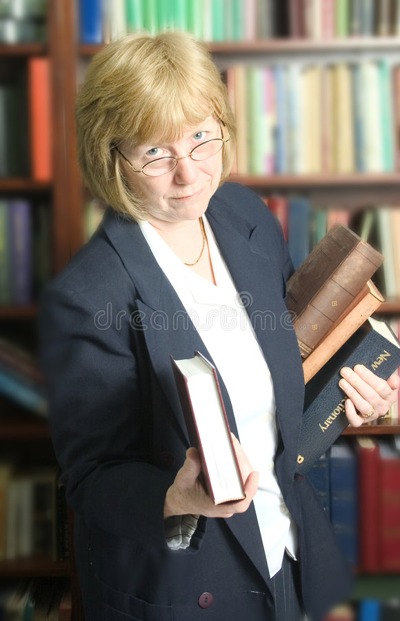 Download Filing the books stock image. Image of revision, bookpile - 112587