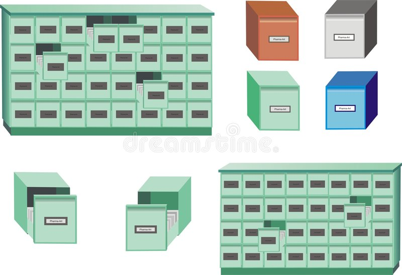 Download Filing cabinet stock illustration. Illustration of archive - 512795