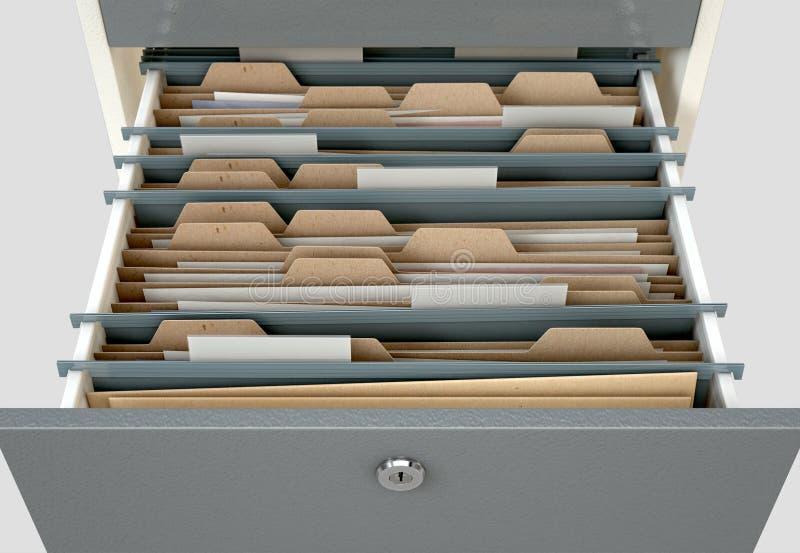 Filing Cabinet Drawer Open Generic royalty free illustration
