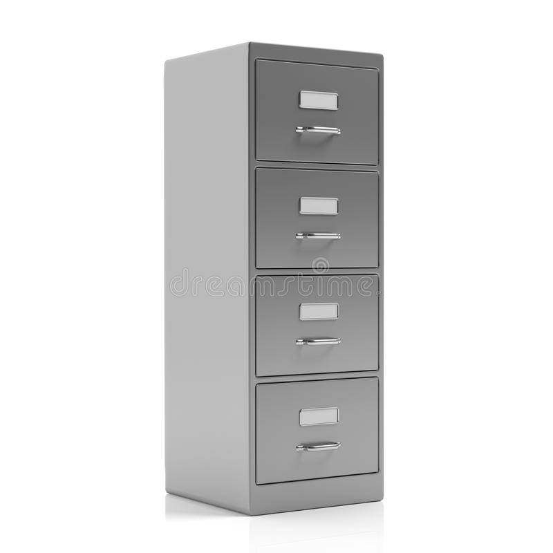 Filing cabinet isolated on white background. 3d illustration vector illustration