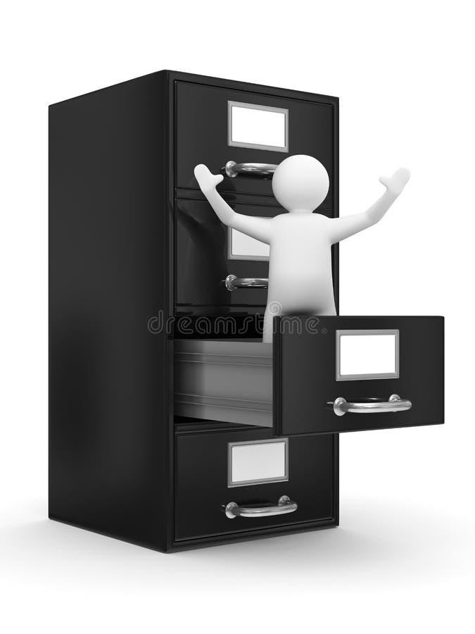 Filing cabinet on white vector illustration