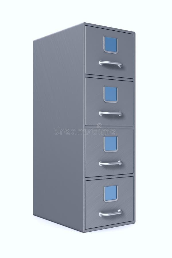 Filing cabinet on white background. Isolated 3D illustration royalty free illustration