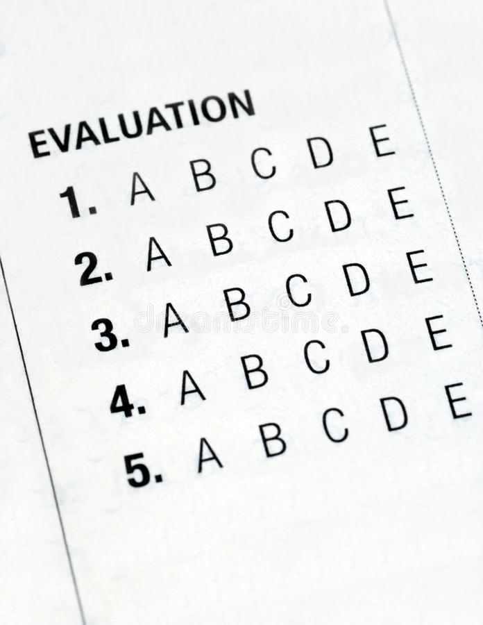 Filing The Evaluation Form Stock Image