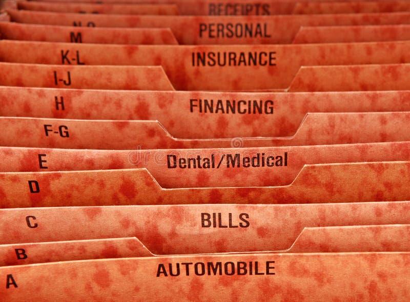 Download Filing Folder for Bills stock photo. Image of household - 4834332