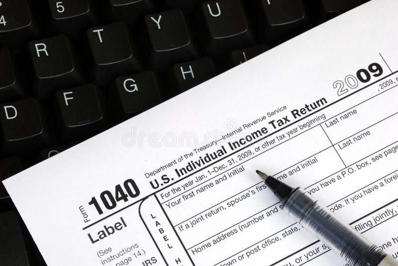 Download Filing The Income Tax Return Online Stock Photo - Image of accounting, internet: 12141980