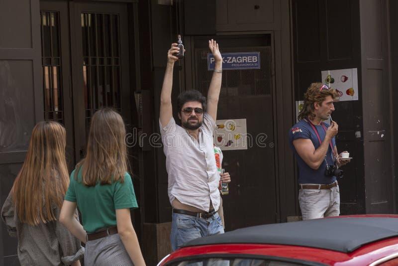 Filip Ridjicki, attore croato e musicista della roccia fotografia stock