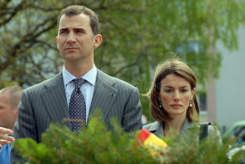 Filipe Burbon and Princess Leticia royalty free stock photo