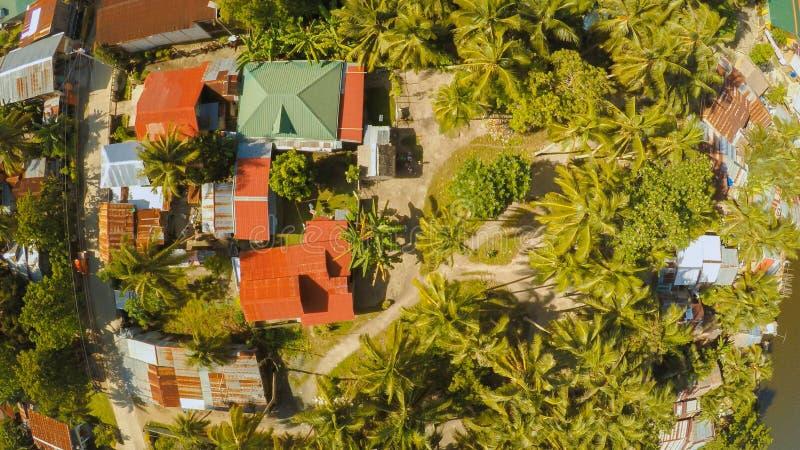 filipińska wioska widok z lotu ptaka Wyspa Bohol Anda miasto obrazy stock