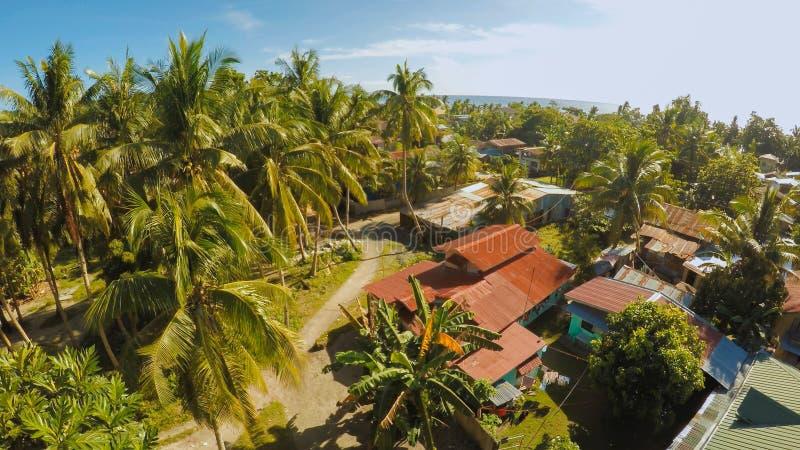 filipińska wioska widok z lotu ptaka Wyspa Bohol Anda miasto zdjęcie stock