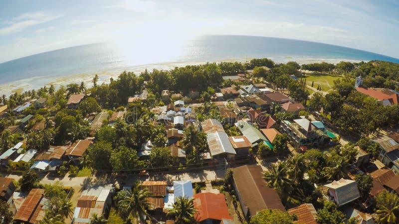 filipińska wioska widok z lotu ptaka Wyspa Bohol Anda miasto fotografia royalty free