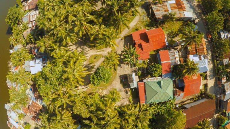 filipińska wioska widok z lotu ptaka Wyspa Bohol Anda miasto obrazy royalty free