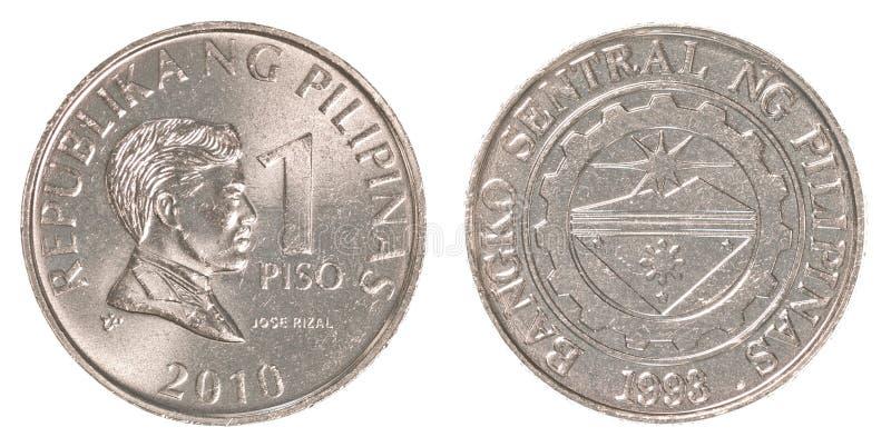 1 Filipińskiego peso moneta zdjęcia stock