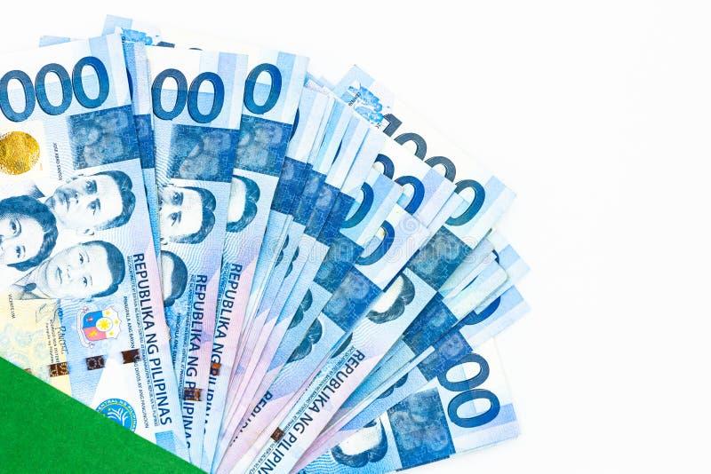 Filipi?czyk 1000 peso rachunek, Filipi?ska pieni?dze waluta, Filipi?ski pieni?dzy rachunk?w t?o obraz royalty free
