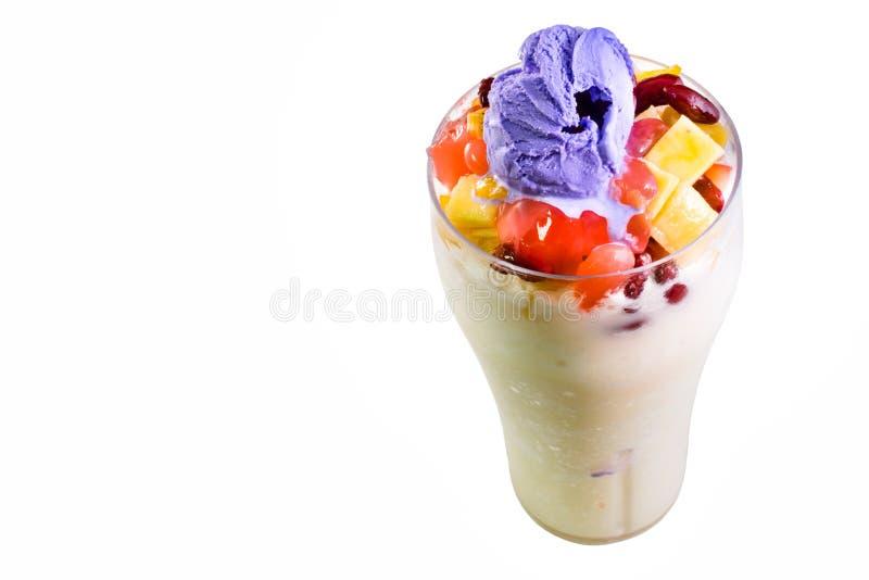 Filipijns dessert, de hoogste mening van de Halohalo stock foto