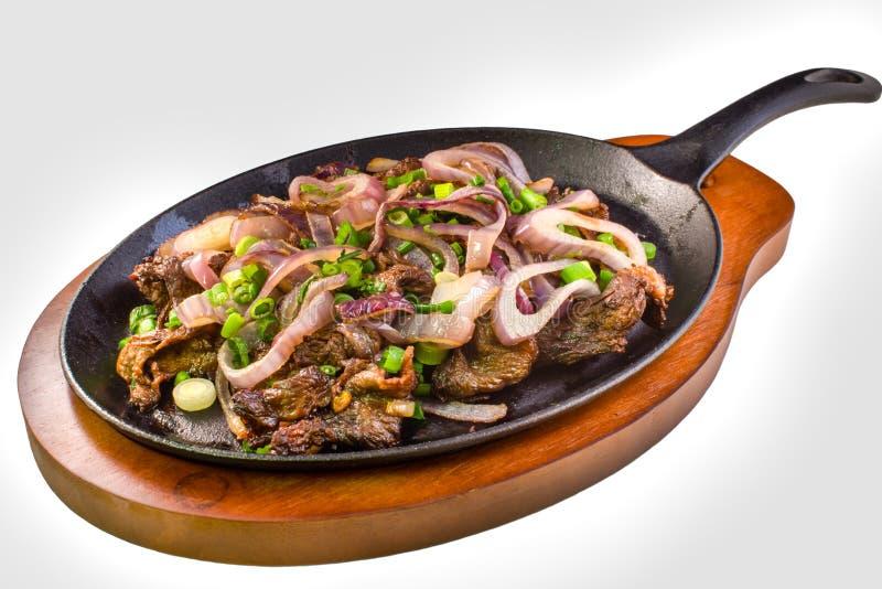 Filipijns rundvleeslapje vlees royalty-vrije stock afbeelding