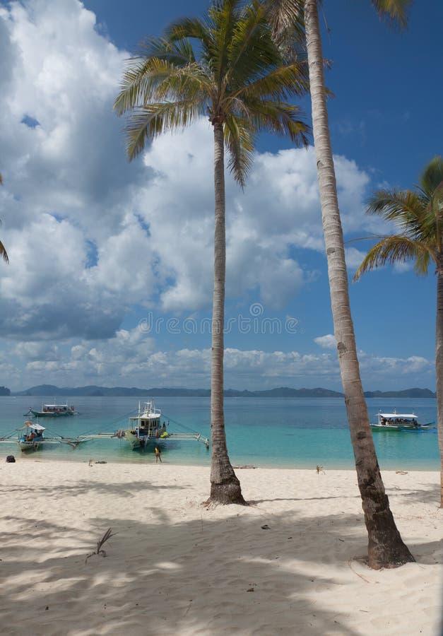 Filipijnse boten in het overzees, Boattrip Boracay, Filippijnen royalty-vrije stock foto