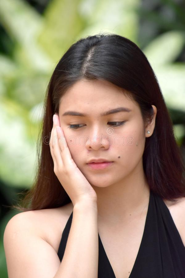Filipina Female And Boredom jovem fotografia de stock