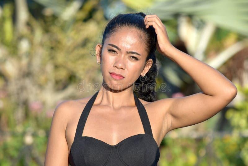 Filipina Female And Confusion attirant images libres de droits
