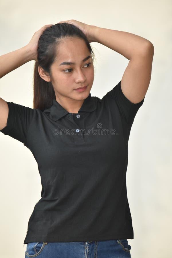 Filipina Female de levantamento imagem de stock royalty free