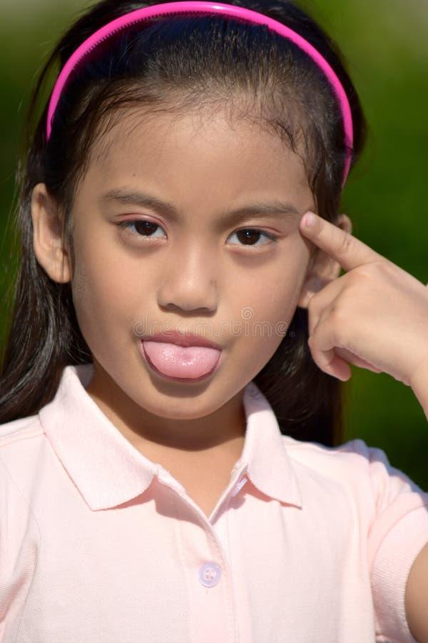 Filipina Female joven insano imágenes de archivo libres de regalías