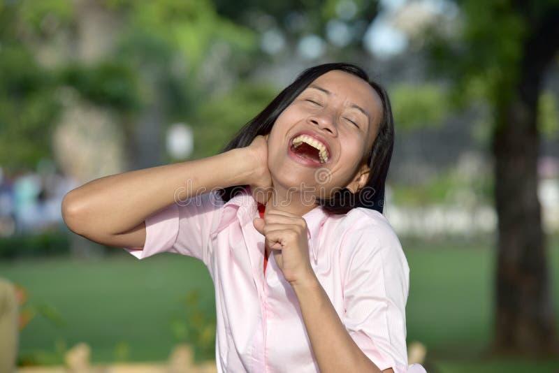 Filipina Female Laughing foto de stock royalty free