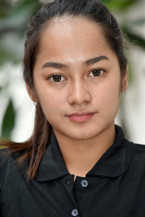 Filipina Female Portrait joven imagenes de archivo